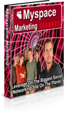 Product picture MySpace Marketing Secrets