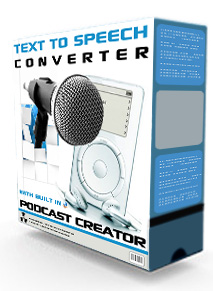 Product picture Text To Speech Converter Podcast Creator Software